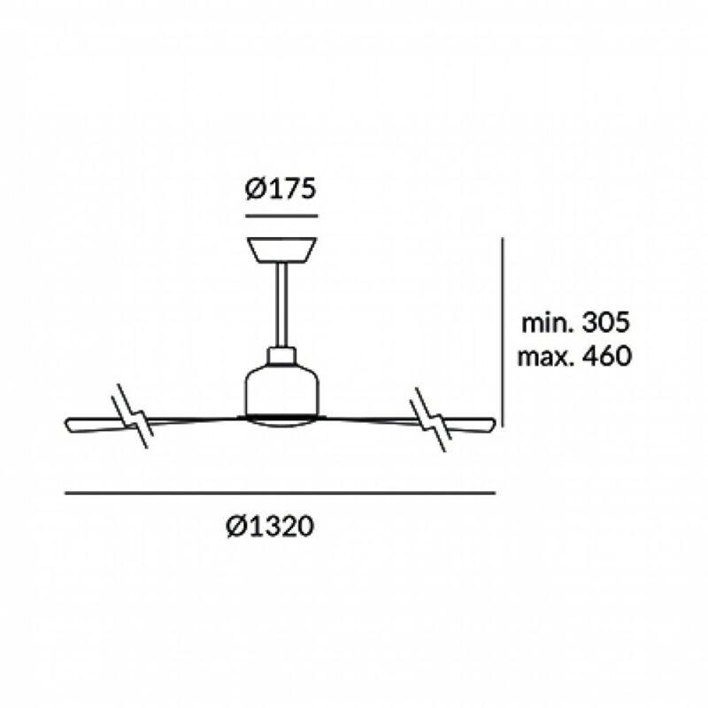 Leds-C4 MOGAN 30-4356-CF-CF ventillátoros csillár  fehér   acél