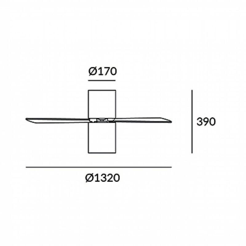 Leds-C4 FORMENTERA 30-4393-CF-M1 ventillátoros csillár  fehér   alumínium