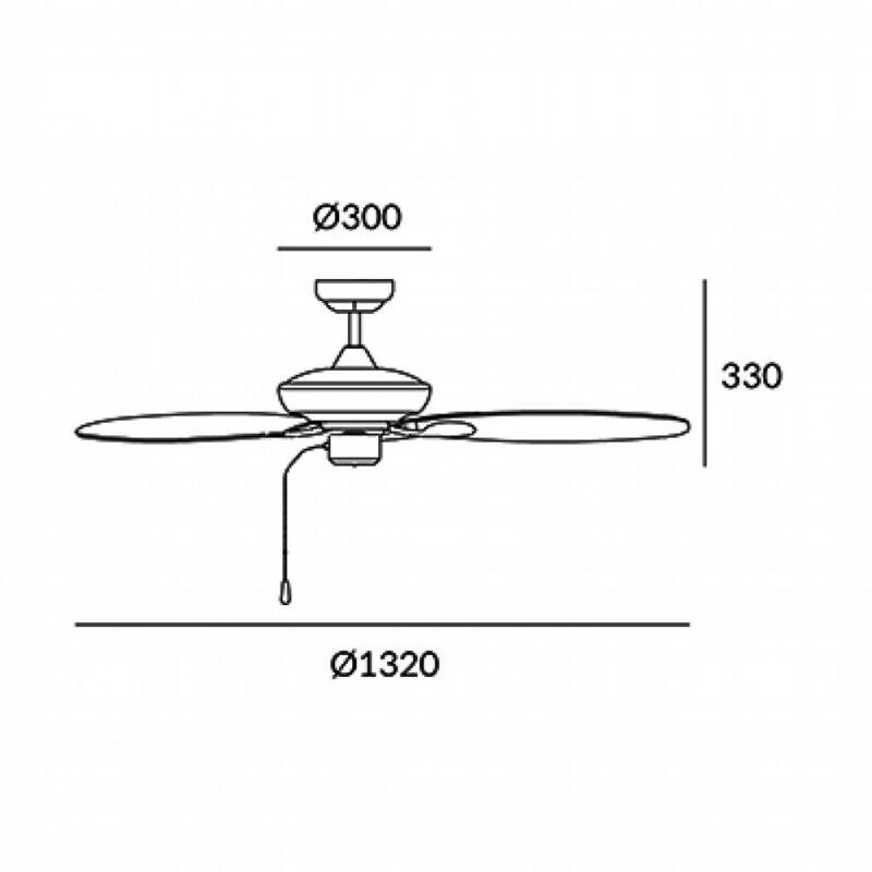 Leds-C4 PHUKET 30-4398-J7-J7 ventillátoros csillár  barna   fém