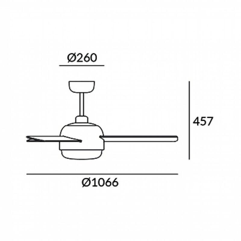 Leds-C4 KLAR 30-4864-16-F9 ventillátoros csillár  fehér   fehér   acél   üveg