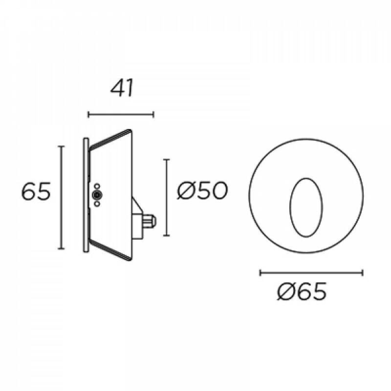 Leds-C4 STEP 55-1573-N3-00 falba építhető lámpa  szürke   alumínium