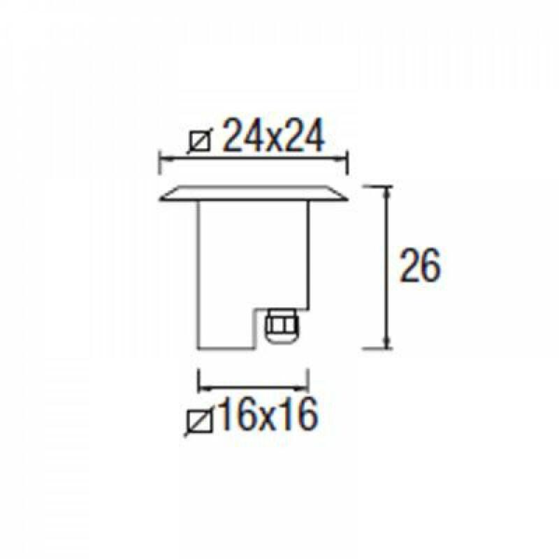 Leds-C4 GEA 55-9232-Y4-37 talajba süllyeszthető lámpa  acél   acél