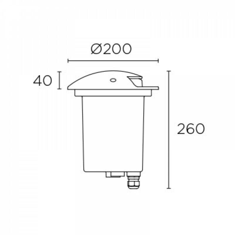Leds-C4 XENA 55-9426-34-M3 talajba süllyeszthető lámpa  szürke   műanyag