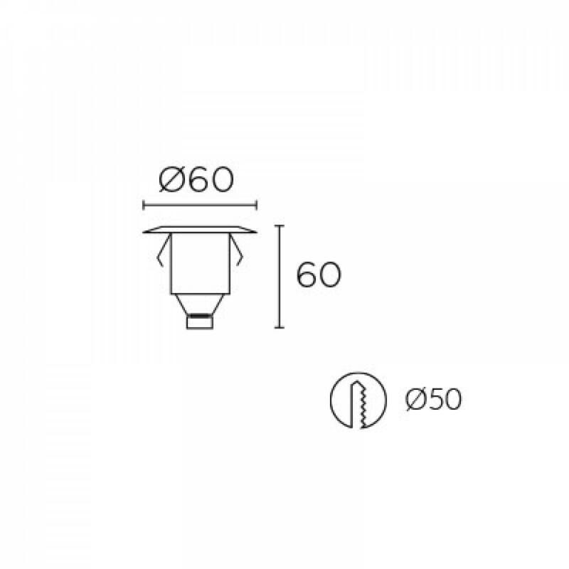 Leds-C4 GEA 55-9769-54-T2 talajba süllyeszthető lámpa alumínium üveg