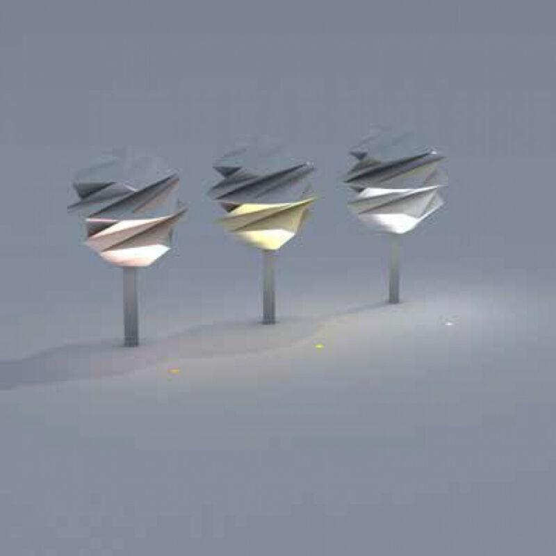 Leds-C4 GEA COB LED 55-9972-CA-CM talajba süllyeszthető lámpa nikkel acél