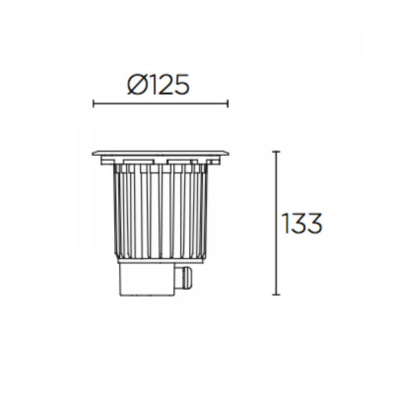 Leds-C4 GEA COB LED 55-9906-CA-CK talajba süllyeszthető lámpa  nikkel   acél