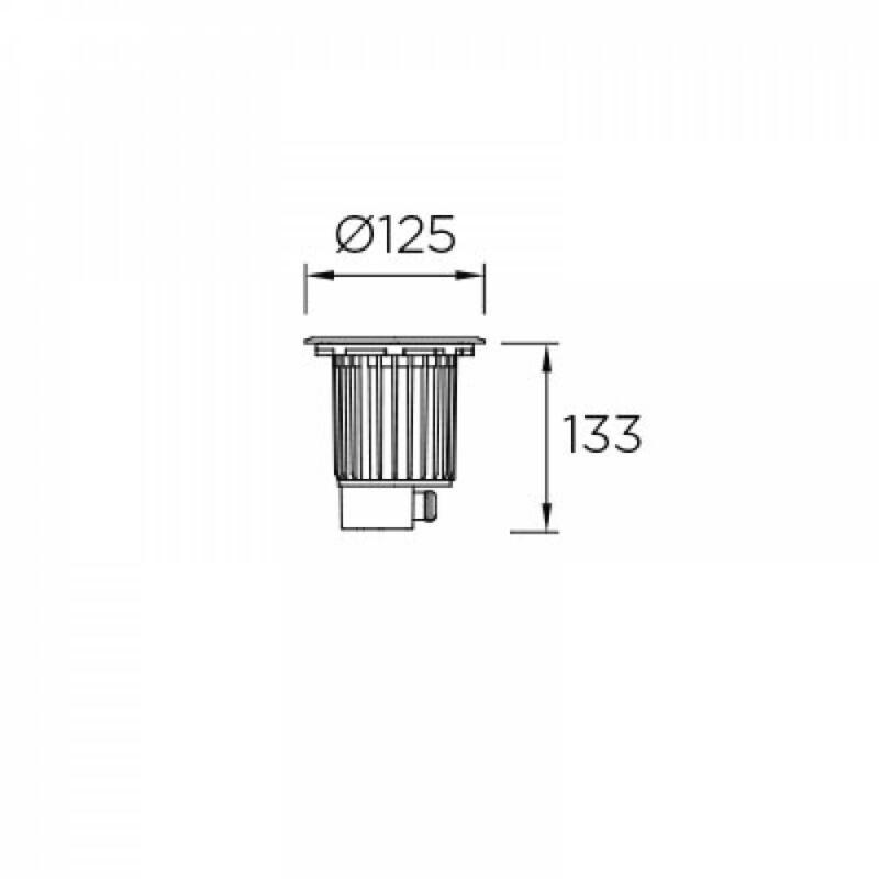 Leds-C4 GEA 55-9906-CA-CM kültéri beépíthető lámpa  acél   acél   üveg