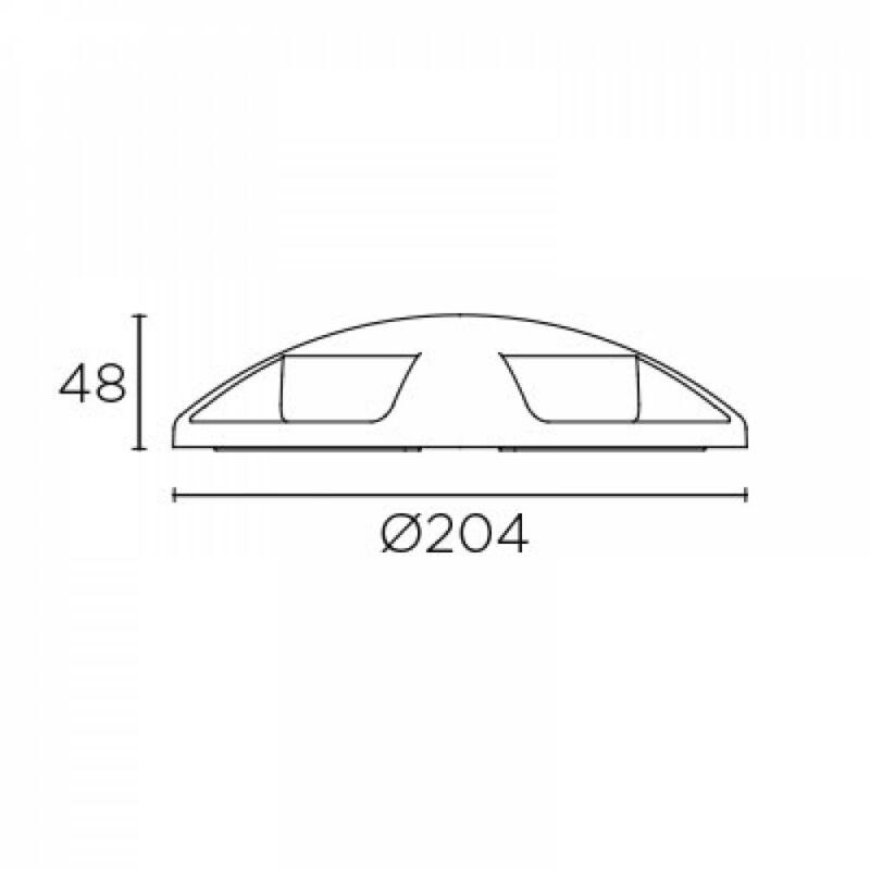 Leds-C4 XENA SURFACE 55-9946-34-CM talajba süllyeszthető lámpa  szürke   alumínium