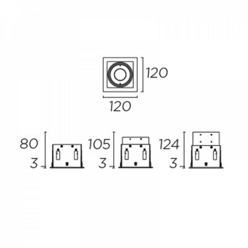 Leds-C4 MULTIDIR EVO 71-2942-14-00 álmennyezetbe építhető lámpa  alumínium