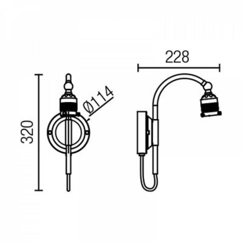 Leds-C4 VINTAGE 71-4819-CI-CI falikar bronz acél