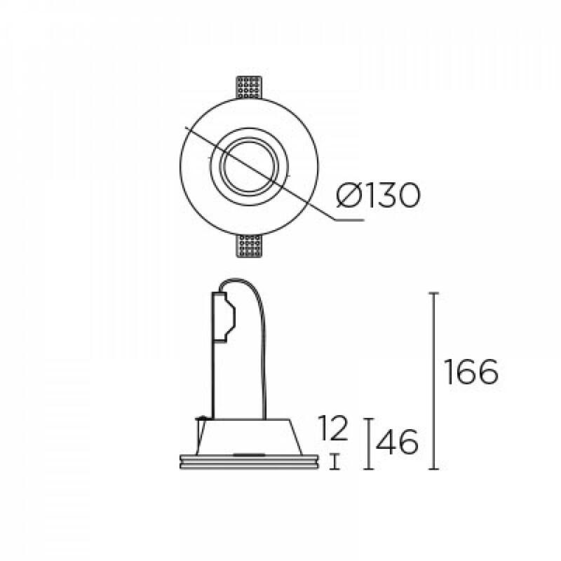 Leds-C4 GES 90-1720-14-00 beépíthető lámpa  fehér   gipsz