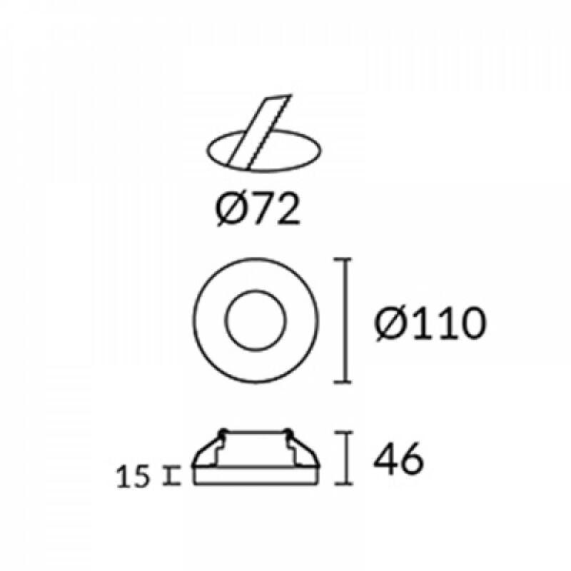 Leds-C4 EIS 90-1789-21-37 beépíthető lámpa  átlátszó   üveg