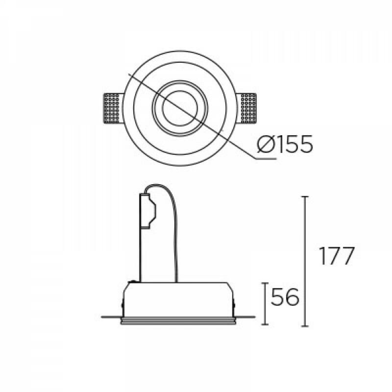 Leds-C4 GES 90-1809-14-00 beépíthető lámpa fehér gipsz