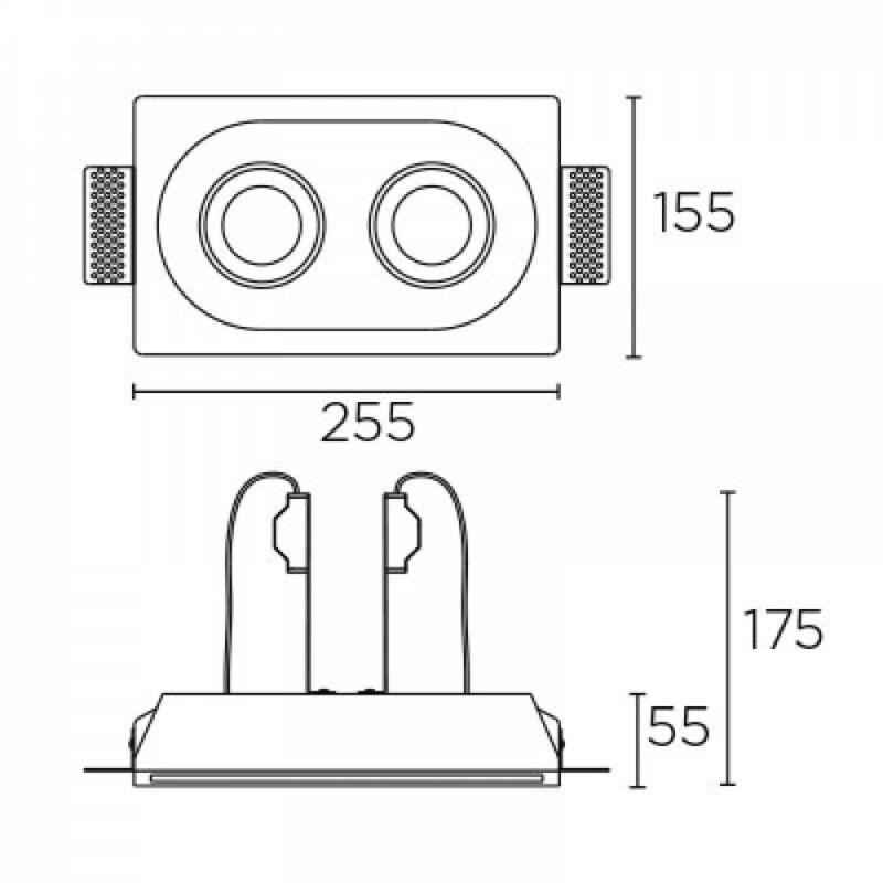 Leds-C4 GES 90-1813-14-00 beépíthető lámpa fehér gipsz