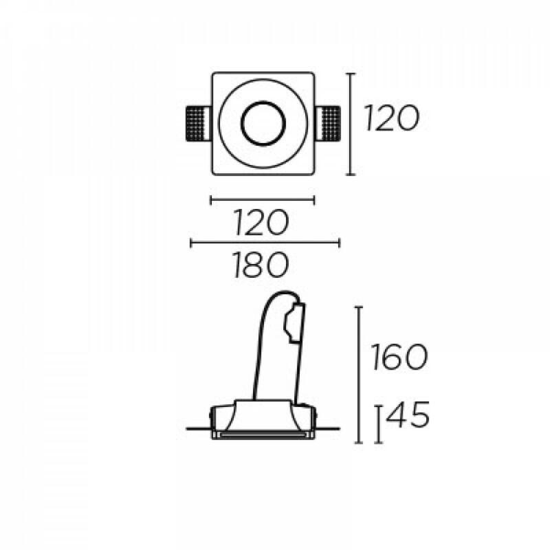 Leds-C4 GES 90-2902-14-00 beépíthető lámpa fehér gipsz
