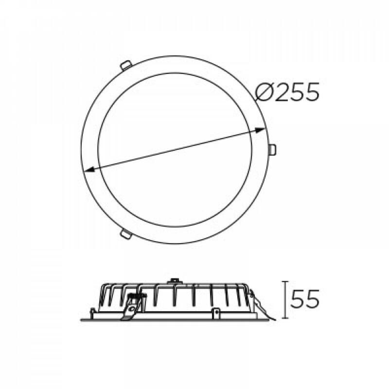 Leds-C4 VOL 90-4885-14-OE beépíthető lámpa  fehér   opál   alumínium   műanyag