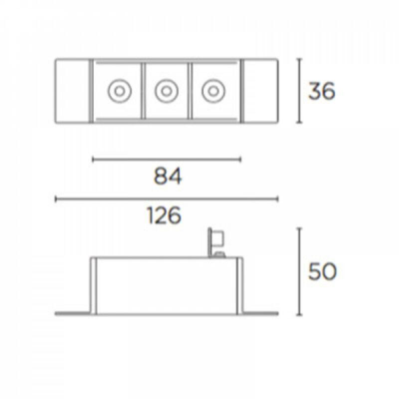 Leds-C4 BENTO 90-6161-14-14 beépíthető lámpa  fehér   alumínium