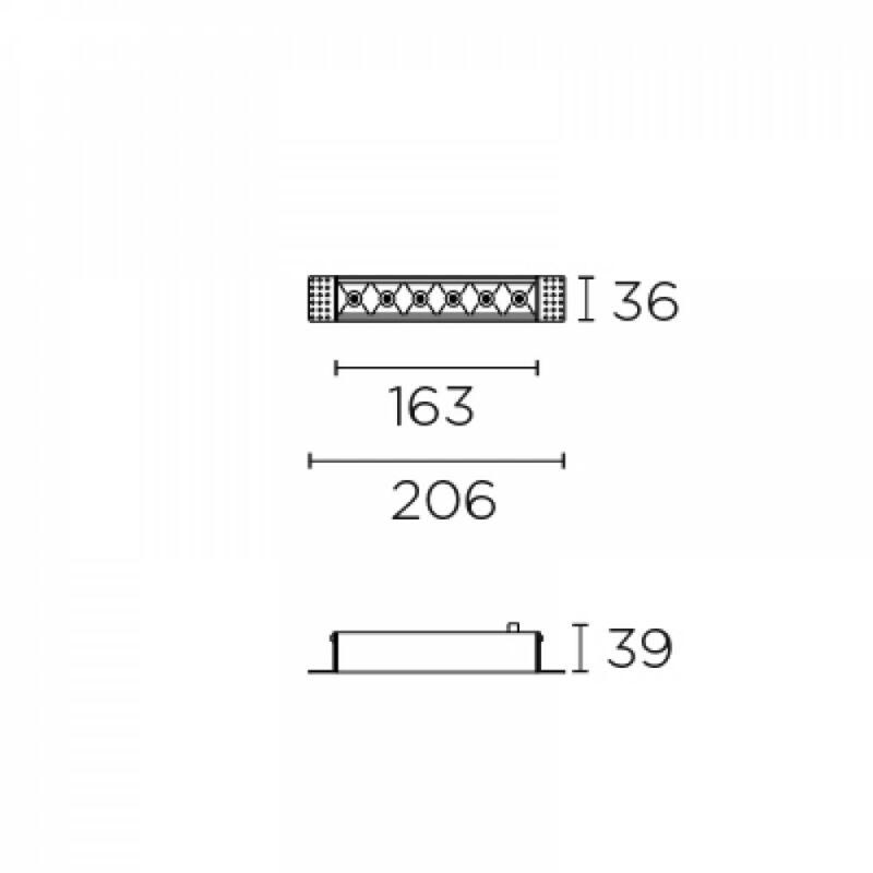 Leds-C4 BENTO 90-6171-14-60 beépíthető lámpa fekete alumínium