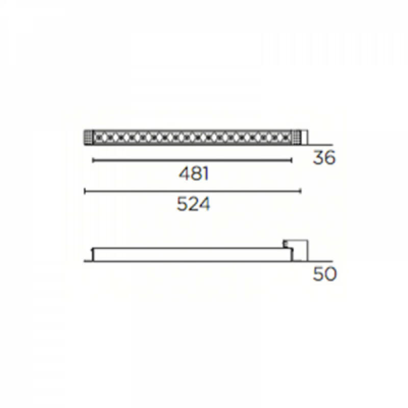 Leds-C4 BENTO 90-6356-14-60 beépíthető lámpa  fekete   alumínium