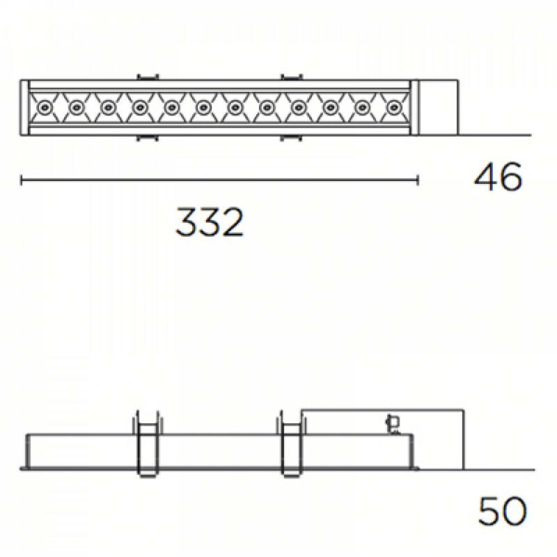 Leds-C4 BENTO 90-6380-14-60 beépíthető lámpa fekete alumínium