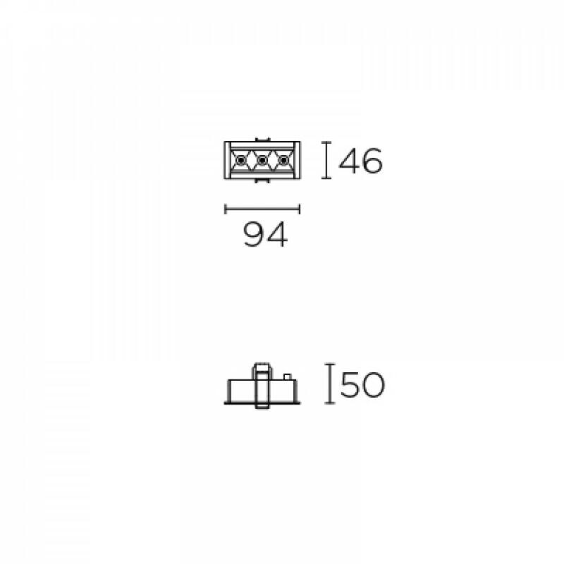 Leds-C4 BENTO 90-6673-14-14 beépíthető lámpa  fehér   alumínium