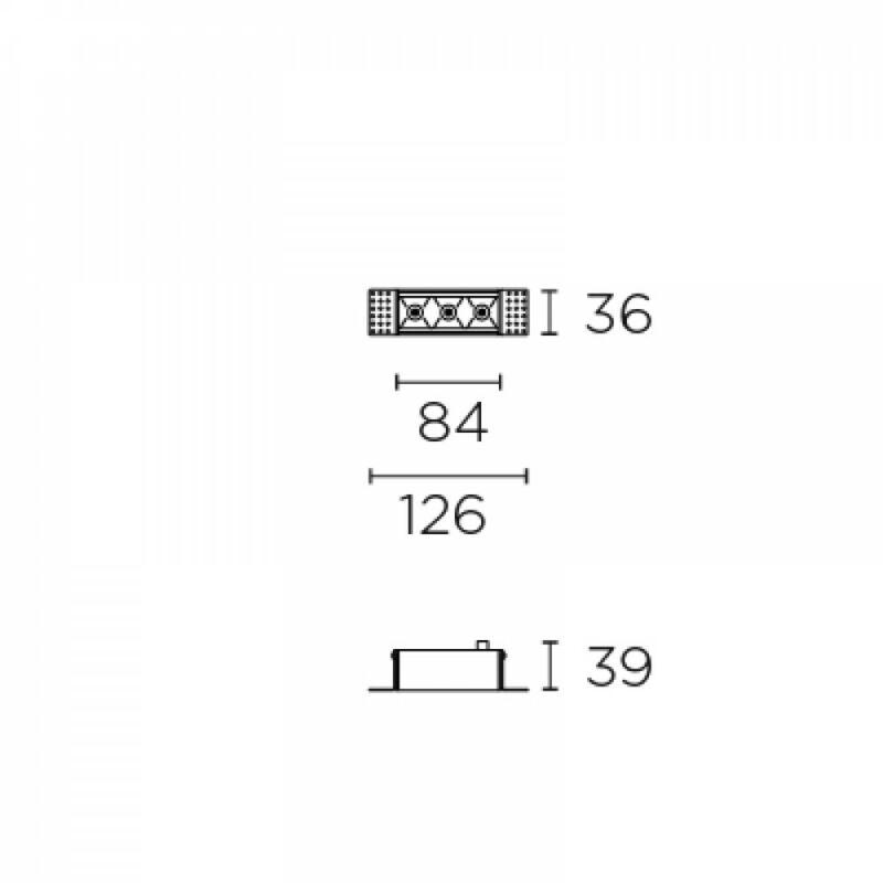 Leds-C4 BENTO 90-6678-14-60 beépíthető lámpa  fekete   alumínium