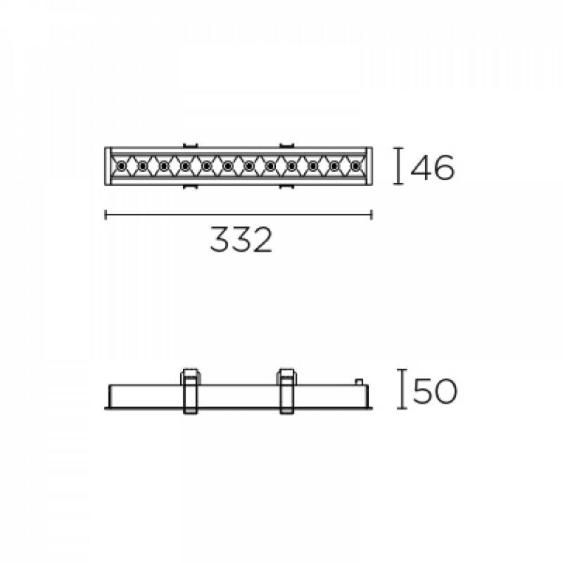 Leds-C4 BENTO 90-6685-14-14 beépíthető lámpa  fehér   alumínium