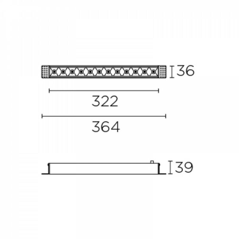 Leds-C4 BENTO 90-6689-14-60 beépíthető lámpa  fekete   alumínium