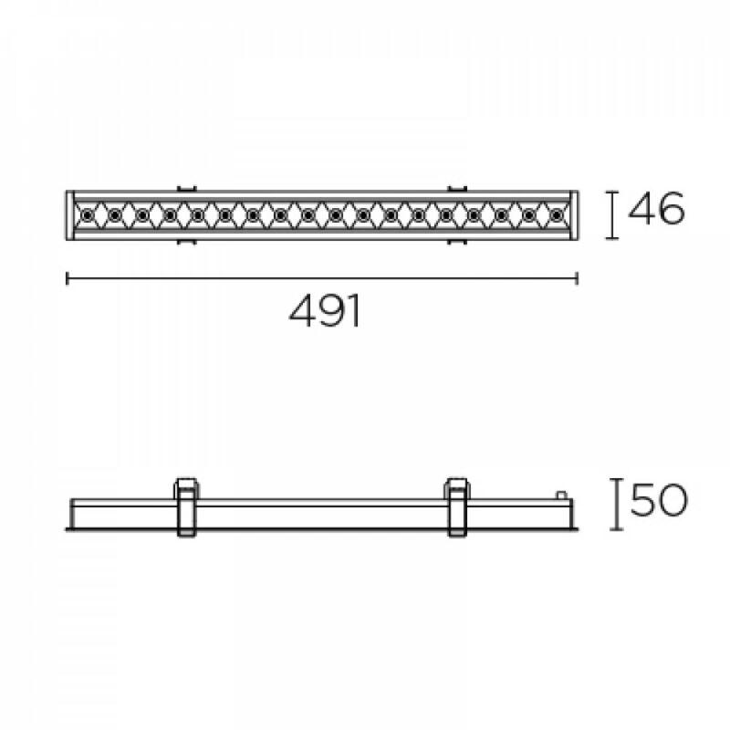 Leds-C4 BENTO 90-6691-14-14 beépíthető lámpa  fehér   alumínium