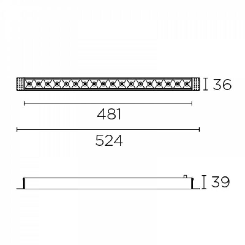 Leds-C4 BENTO 90-6694-14-14 beépíthető lámpa  fehér   alumínium