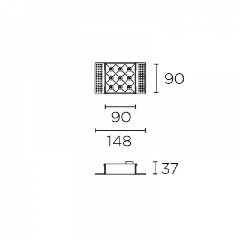 Leds-C4 BENTO 90-7002-14-60 beépíthető lámpa  fekete   alumínium