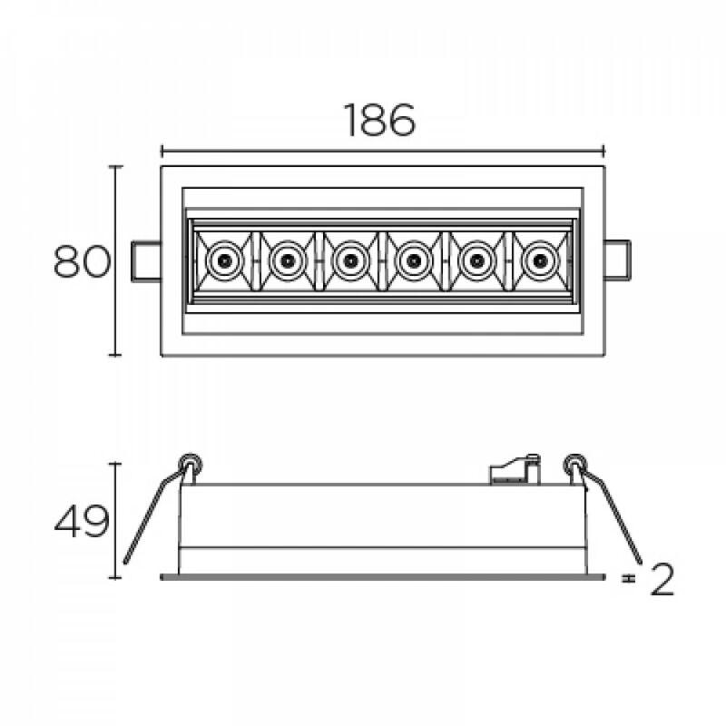 Leds-C4 BENTO 90-7190-14-14 beépíthető lámpa  fehér   alumínium