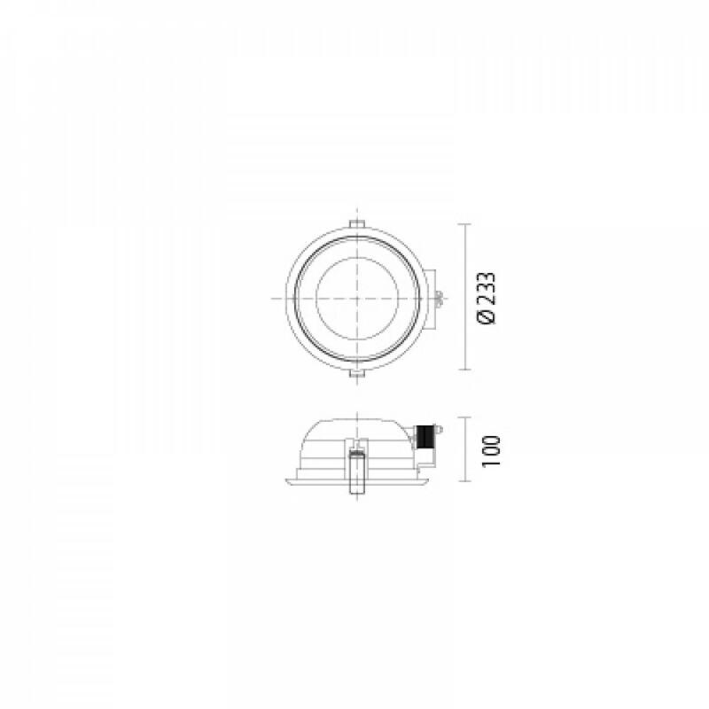 Leds-C4 DN-1400-N3-00 Álmennyezetbe építhető lámpa ECO szürke üveg
