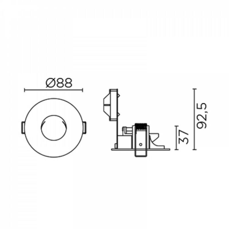 Leds-C4 PAT DN-1695-14-00 süllyesztett lámpa fehér alumínium