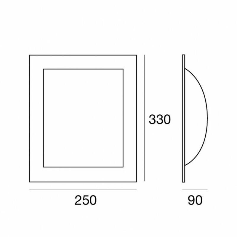 LineaLight MET WALLY 576RU881 fali lámpa rozsda fehér fém üveg