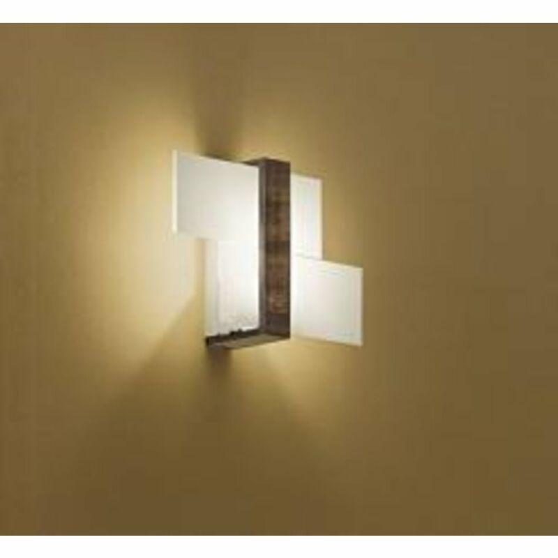 LineaLight TRIAD 90228 fali lámpa diófa fém