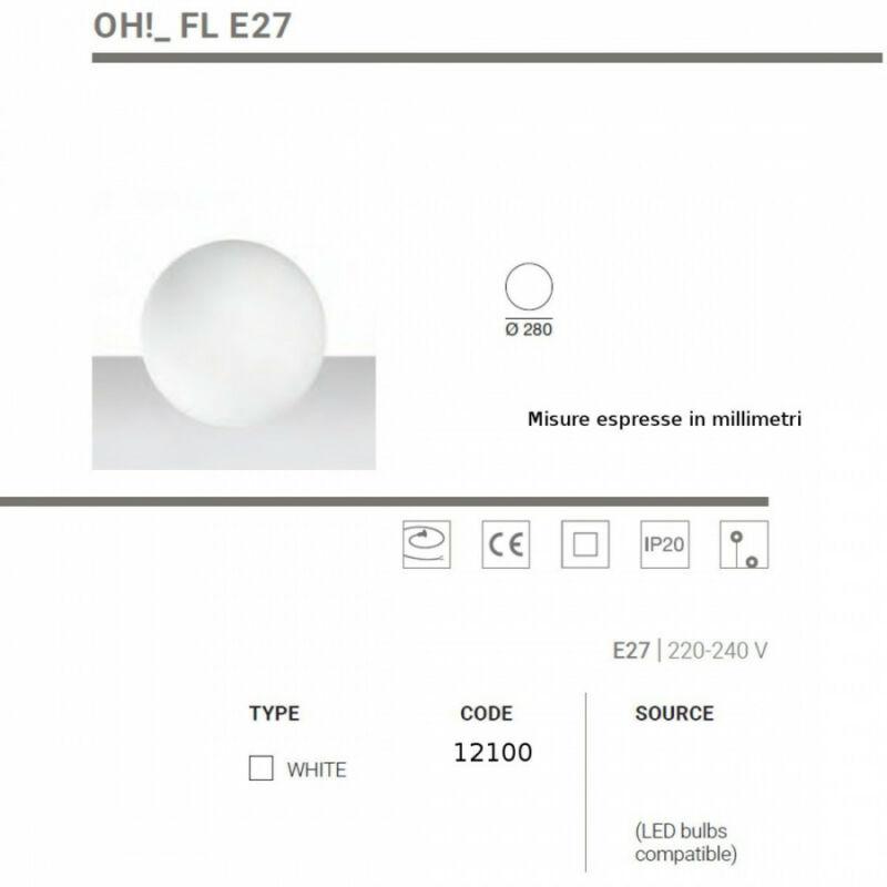 LineaLight OH! D280 IN E27 12100 állólámpa