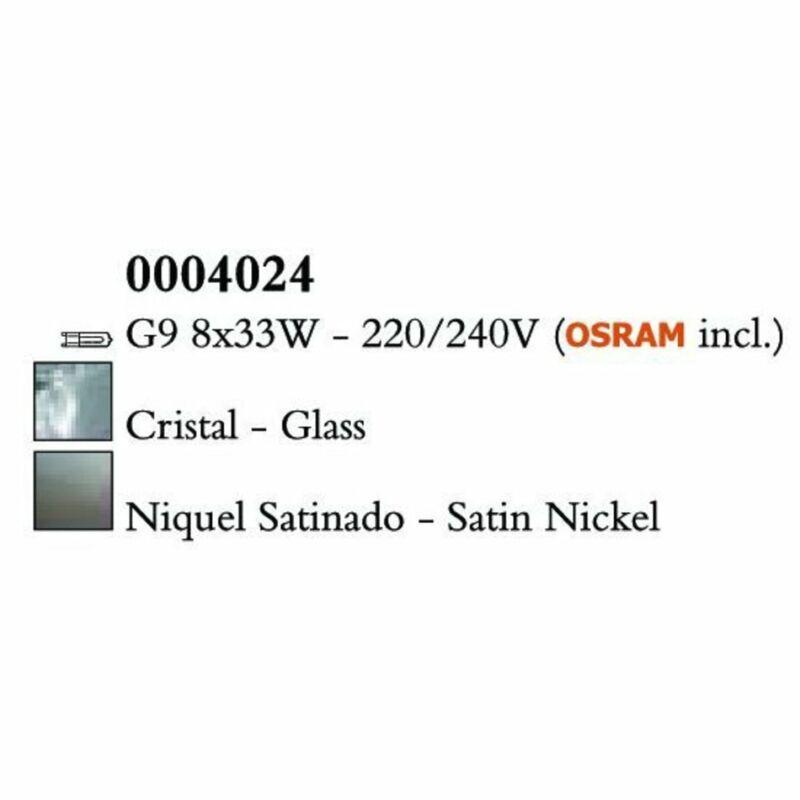 Mantra CUADRAX SN 0004024 mennyezeti lámpa  szatinált nikkel