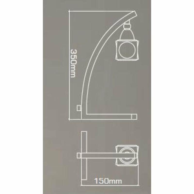 Mantra CUADRAX SN 0004031 asztali lámpa  szatinált nikkel