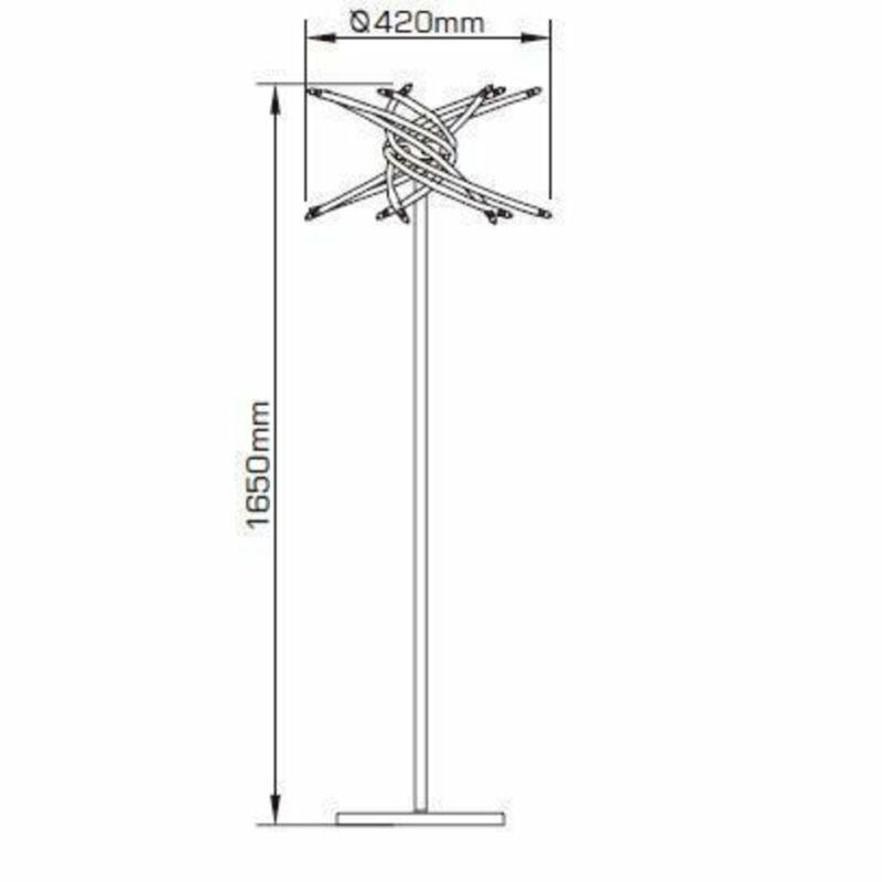 Mantra AIRE 0200 állólámpa fényerőszabályzós  króm   fém