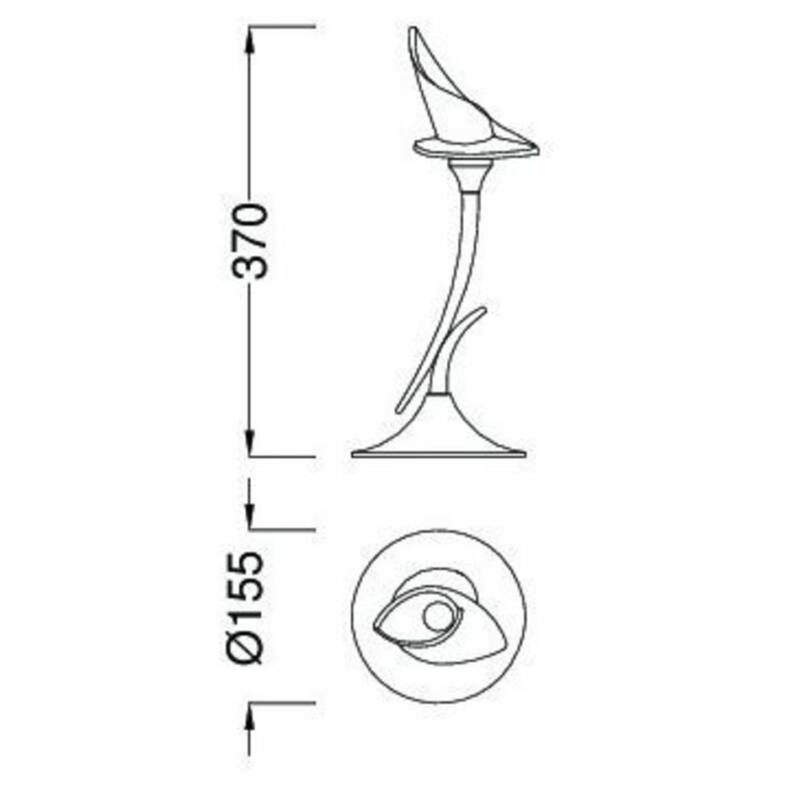 Mantra FLAVIA 0309 Asztali lámpa  króm   fém