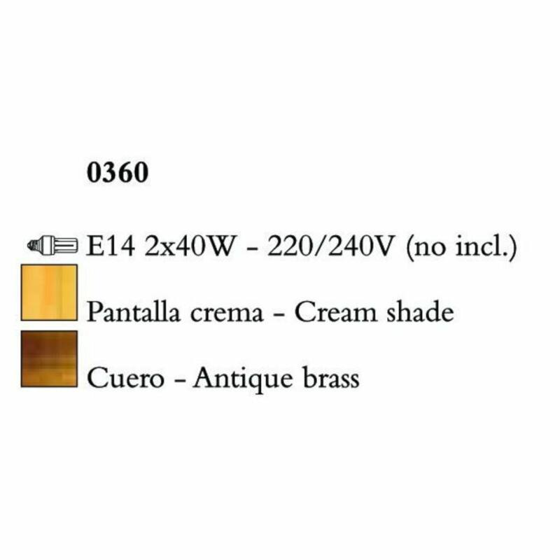 Mantra VIENA 0360 asztali lámpa  borostyán   fém