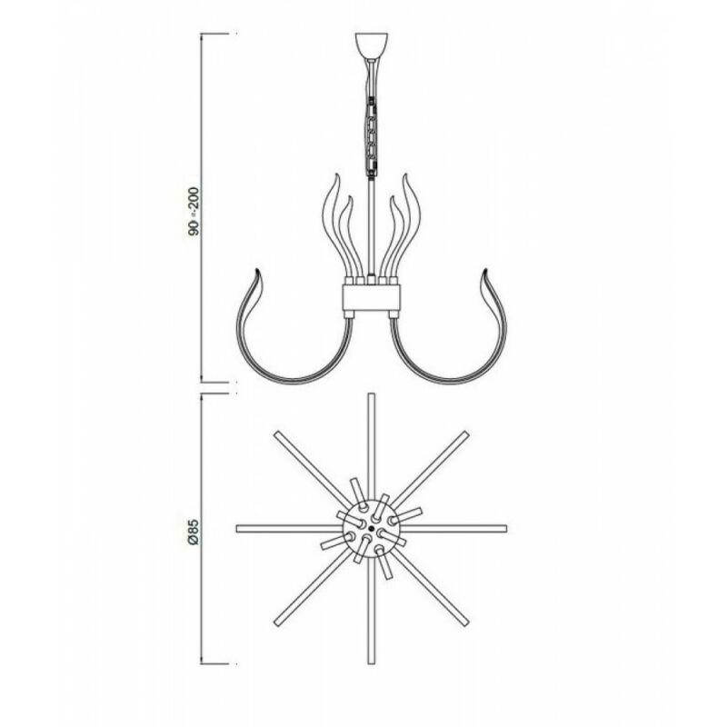 Mantra VERSAILLES 5561 modern csillár króm akril