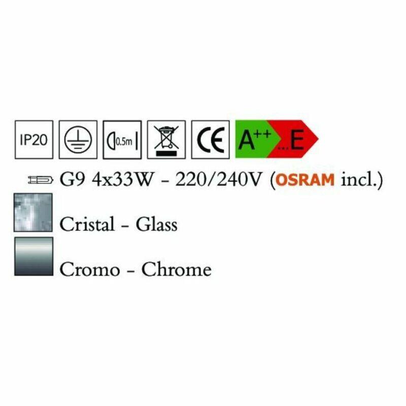 Mantra BALI 0802 csillárok nappaliba  króm   fém