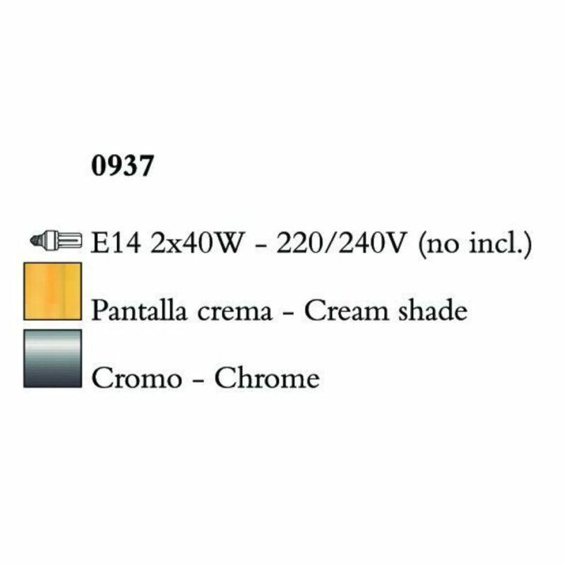Mantra AKIRA CHROME CREAM SHADE 0937 falikar króm fehér fém szövet