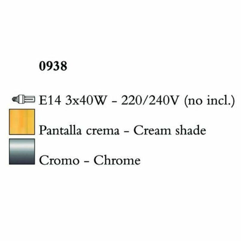Mantra AKIRA CHROME CREAM SHADE 0938 falikar króm fehér fém szövet