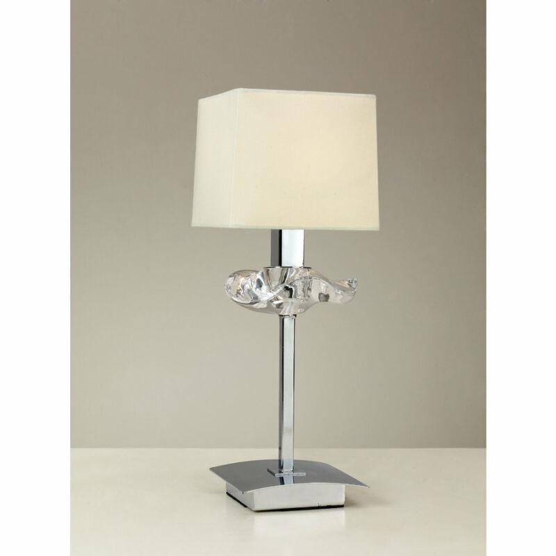 Mantra AKIRA CHROME CREAM SHADE 0939 asztali lámpa  króm   fehér   fém   szövet