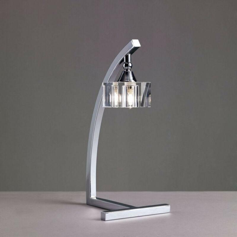Mantra CUADRAX CHROME OPTICAL GLASS 0964 asztali lámpa króm fém üveg