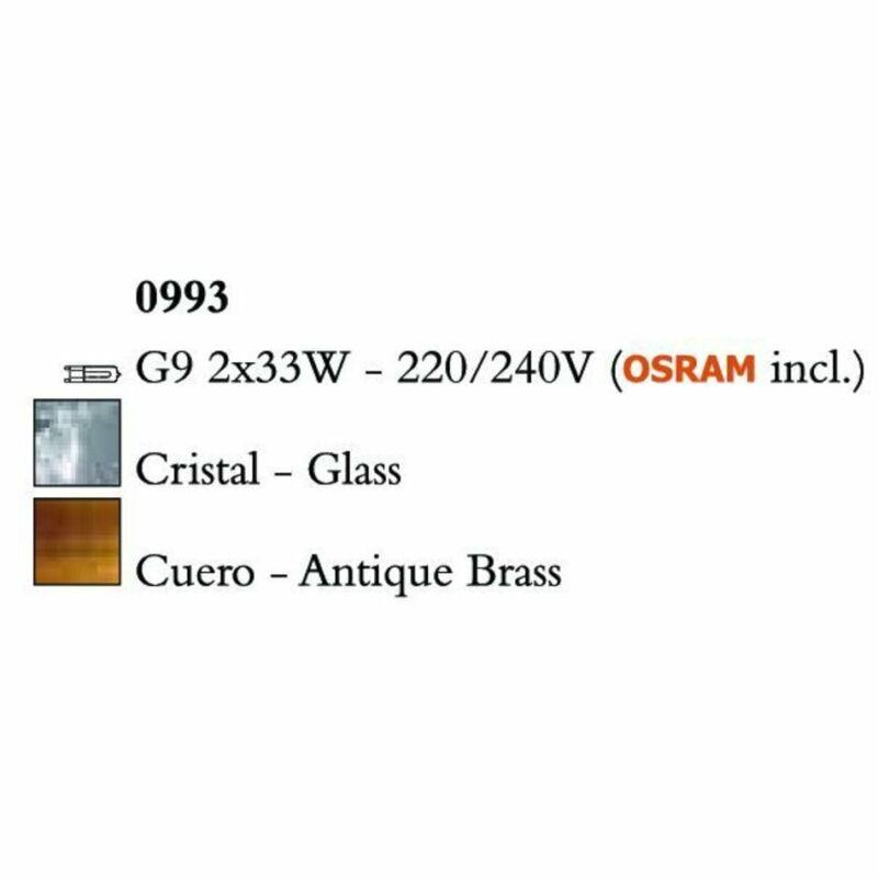 Mantra Cuadrax Cristal 0993 falikar sárgaréz fém kristály