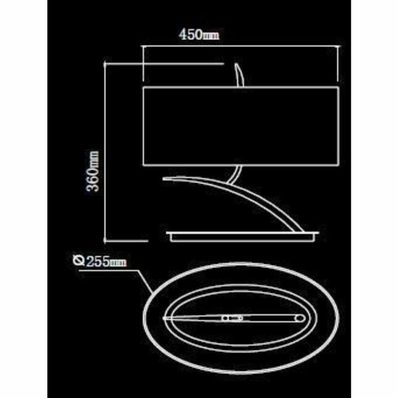Mantra EVE 1138 asztali lámpa króm fém